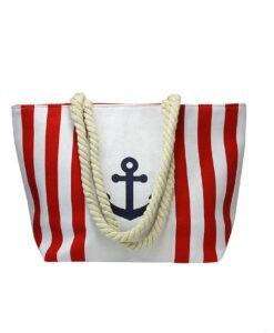 Torba płócienna paski marynarska