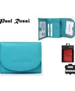 portfel Paul Rossi turkusowy