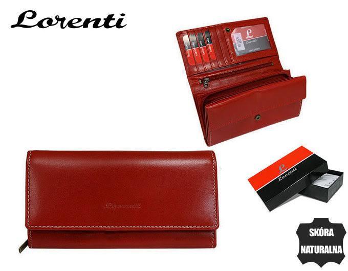 bb864c5957a7a RD-12-BAL-RED 4. Portfel damski skórzany Lorenti czerwony