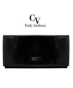 Elegancka czarna kopertówka marki Italy Fashion