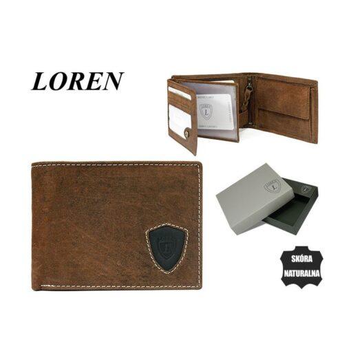 Portfel męski skórzany poziomy Loren