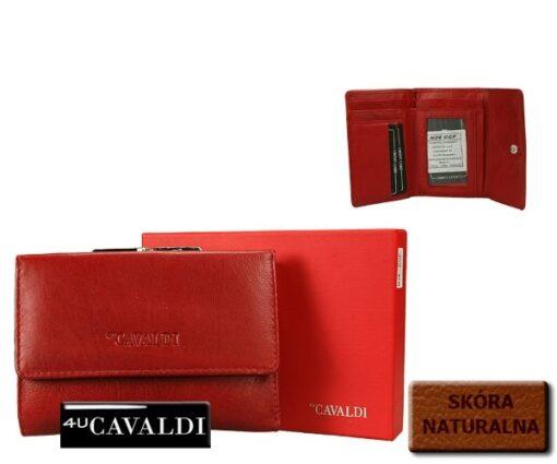 portfel damski Cavaldi czewony