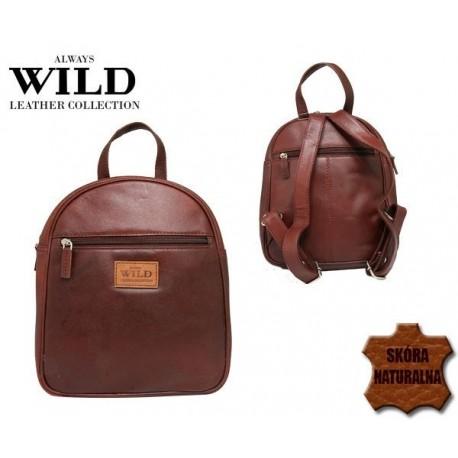 Plecak skórzany Always Wild burgund