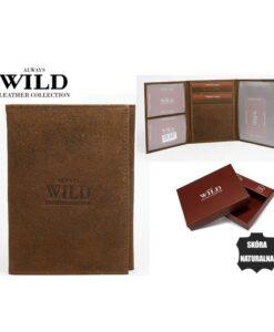 Skórzane etui na dokumenty Always Wild