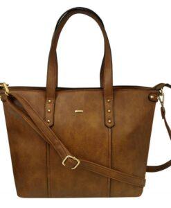 Torebka damska Cavaldi typu shopper bag brązowa
