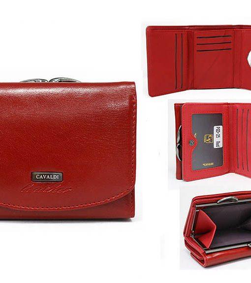 4d56782c58b16 Produkt już jest na liście życzeń! Przeglądaj listę życzeń · Mały portfel  damski bigiel czerwony Cavaldi