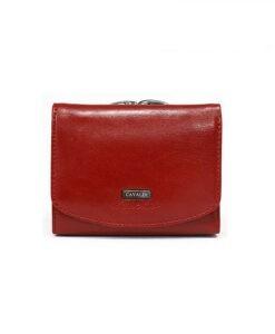 Mały portfel damski bigiel czerwony Cavaldi