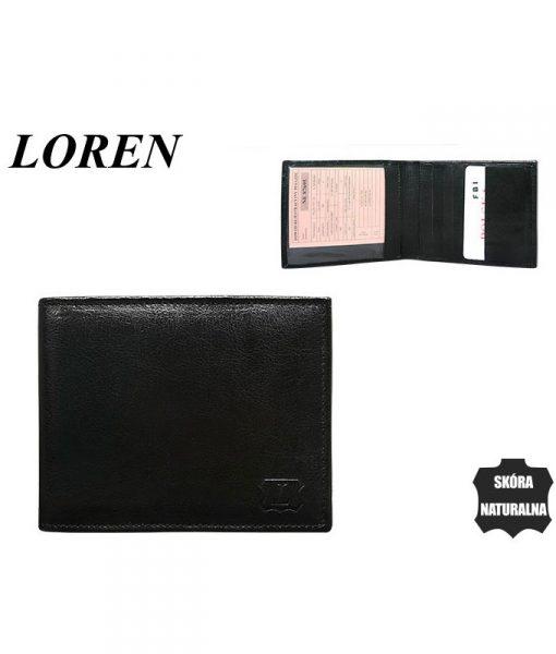 Skórzane etui na dokumenty wizytownik Loren
