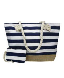 Torba plażowa marynarska płócienna shopper bag