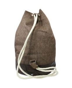 Plecak worek materiałowy Loren brązowy