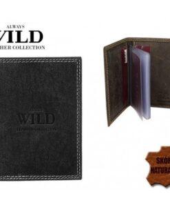 Etui męskie skórzane na karty wizytownik Always Wild