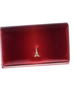 Portfel damski skórzany czerwony Paris Design