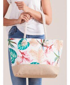 Torba płócienna shopper bag w rośliny