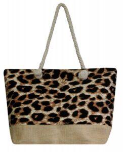 Torba płócienna plażowa panterka shopper bag
