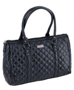 Duża torba pikowana Italy Fashion czarna