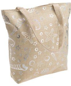 torba płócienna srebrne liście