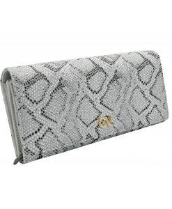 portfel damski srebrny